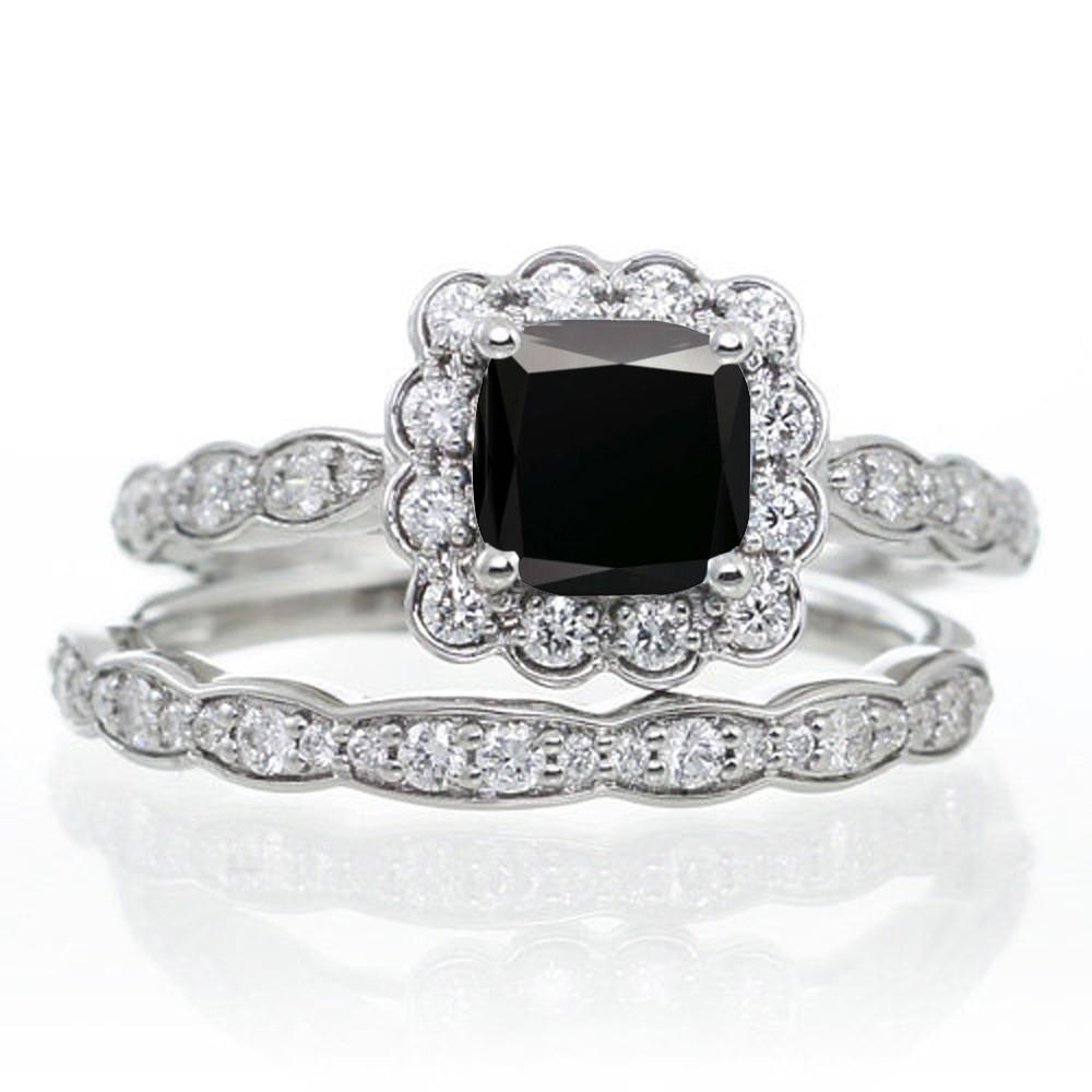 gold wedding ring sets 10k White Gold Princess Cut Round Diamonds Engagement Bridal Set Wedding Rings eBay