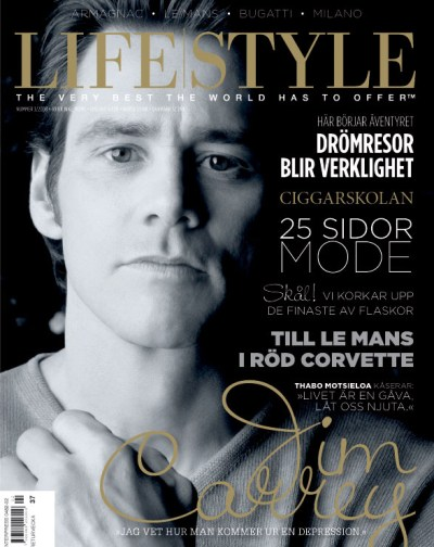 Carrey on the cover of 'Lifestyle'