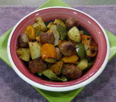 Roasted Turkey Sausage with Potatoes, Peppers, and Onions - Juggling with Julia
