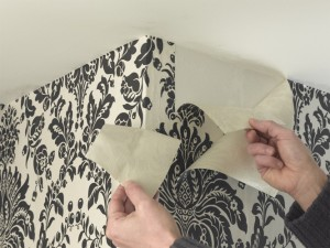 Wallpapering a room