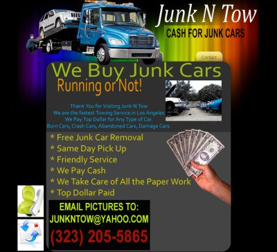 Junk N Tow |Cash For Junk Cars|Junk Car Removal - Junk Car Removal Los Angeles we buy junk cars ...