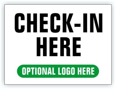 Event Registration Area Sign | Check In Here