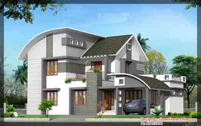 House Plan and Elevation for a 4BHK house : 2000 sq.Ft