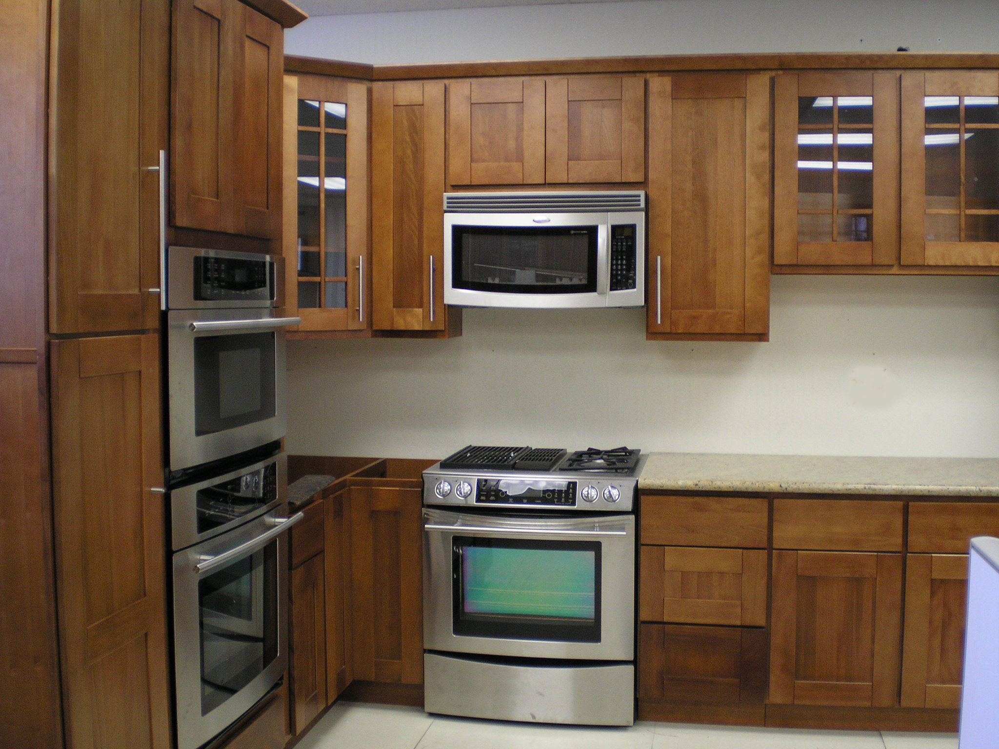 cherry kitchen cabinets cheap kitchen cabinets Raised Panel Shaker Style Toffee Finish