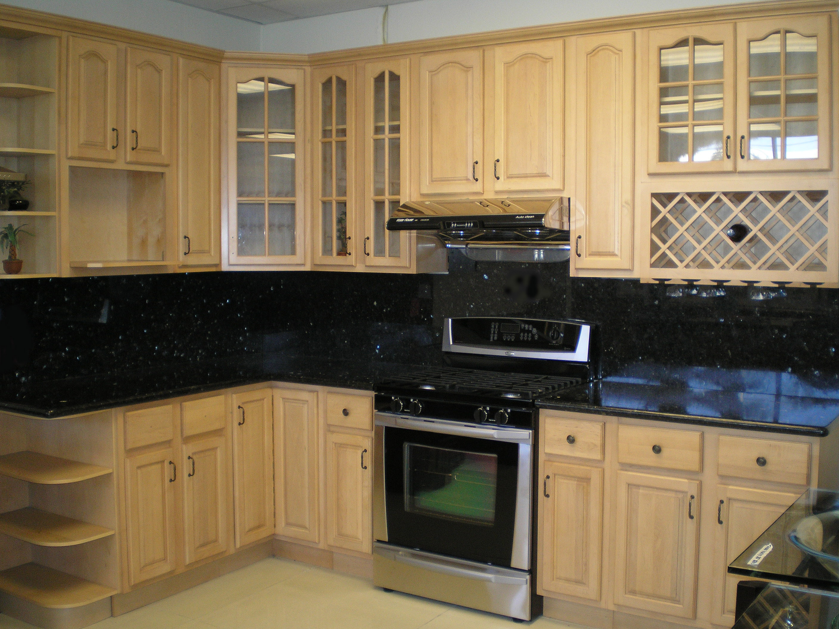 maple kitchen cabinets cheap kitchen cabinets Cathedral Raised Panel Natural