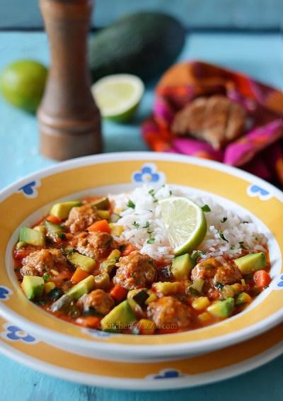 Albondigas - Mexican Meatball Soup | Kitchen Nostalgia