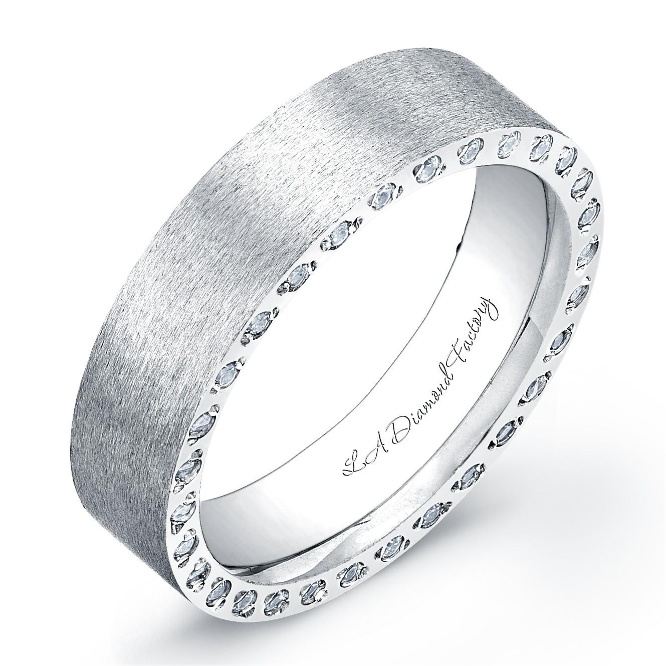 la diamond factory men s wedding band mens diamond wedding bands LA Diamond Factory Men s Wedding Band Matte