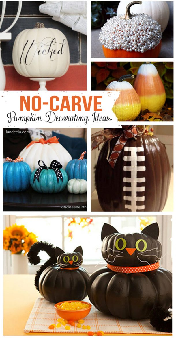 No Carve Pumpkin Decorating Ideas   landeelu com