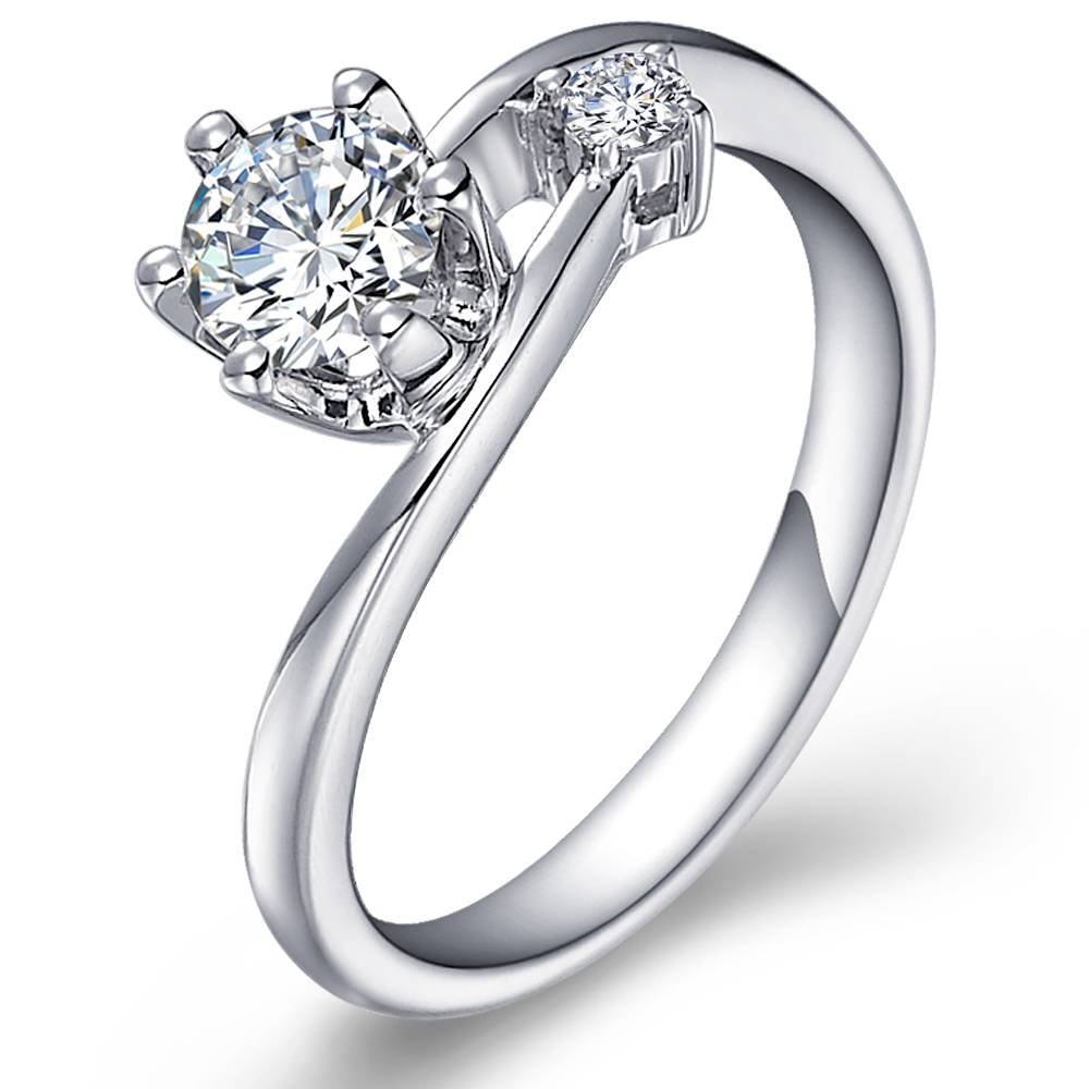 diamond engagement ring with sidestones in 14k white gold with a 0 3 carat diamond9 elegant wedding rings Diamond engagement ring with sidestones in 14K White Gold with a 0 3 Carat Diamond