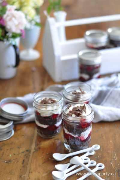 Black Forest Cake in a Mason Jar Easy Recipe Portable