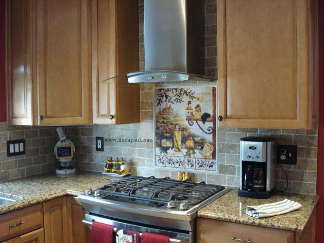 Tuscan design Kitchen Tile Backsplash kitchen tile backsplash