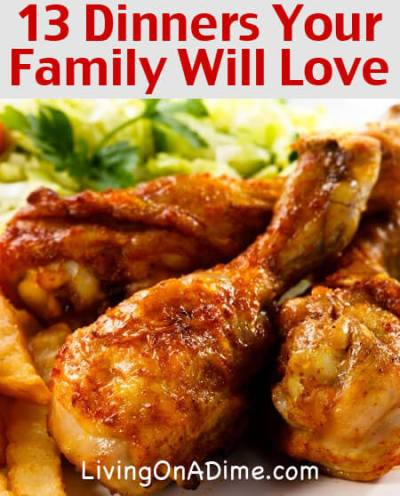 Easy Family Menu Ideas - Dinners Your Family Will Love