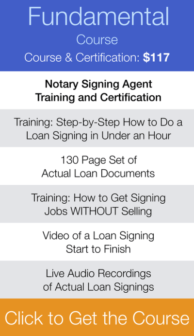Loan Signing System Training and Certification Pricing - Loan Signing Agent Course