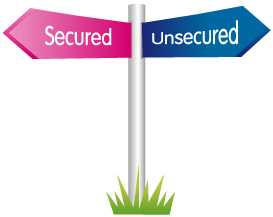The difference between secured and unsecured loans