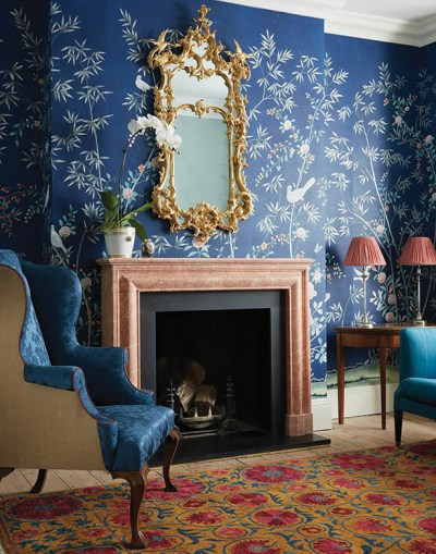 De Gournay Chinoiserie Wallpaper + Met Gala Limited Edition Scarf | ...love Maegan