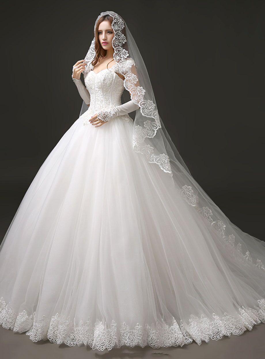 wedding dr 21 train wedding dress Gorgeous Off the Shoulder Detachable Train Wedding Dresses Long Sleeve Lace Bride Dress