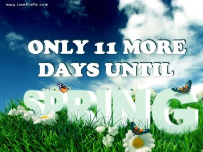 11 More Days Until Spring Pictures, Photos, and Images for Facebook, Tumblr, Pinterest, and Twitter