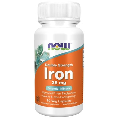 Buy NOW Foods - Iron Double Strength Essential Mineral 36 mg. - 90 Vegetarian Capsules at ...