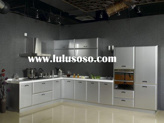 White Lacquer Kitchen Cabinet Stainless Steel Sink stainless steel kitchen cabinets Kitchen Cabinet Cabinetry with Granite Countertop and Stainless Steel Sink