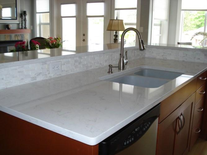 quartz countertops ottawa quartz kitchen countertops White Countertops Tops Caesarstone Blizzard Quartz