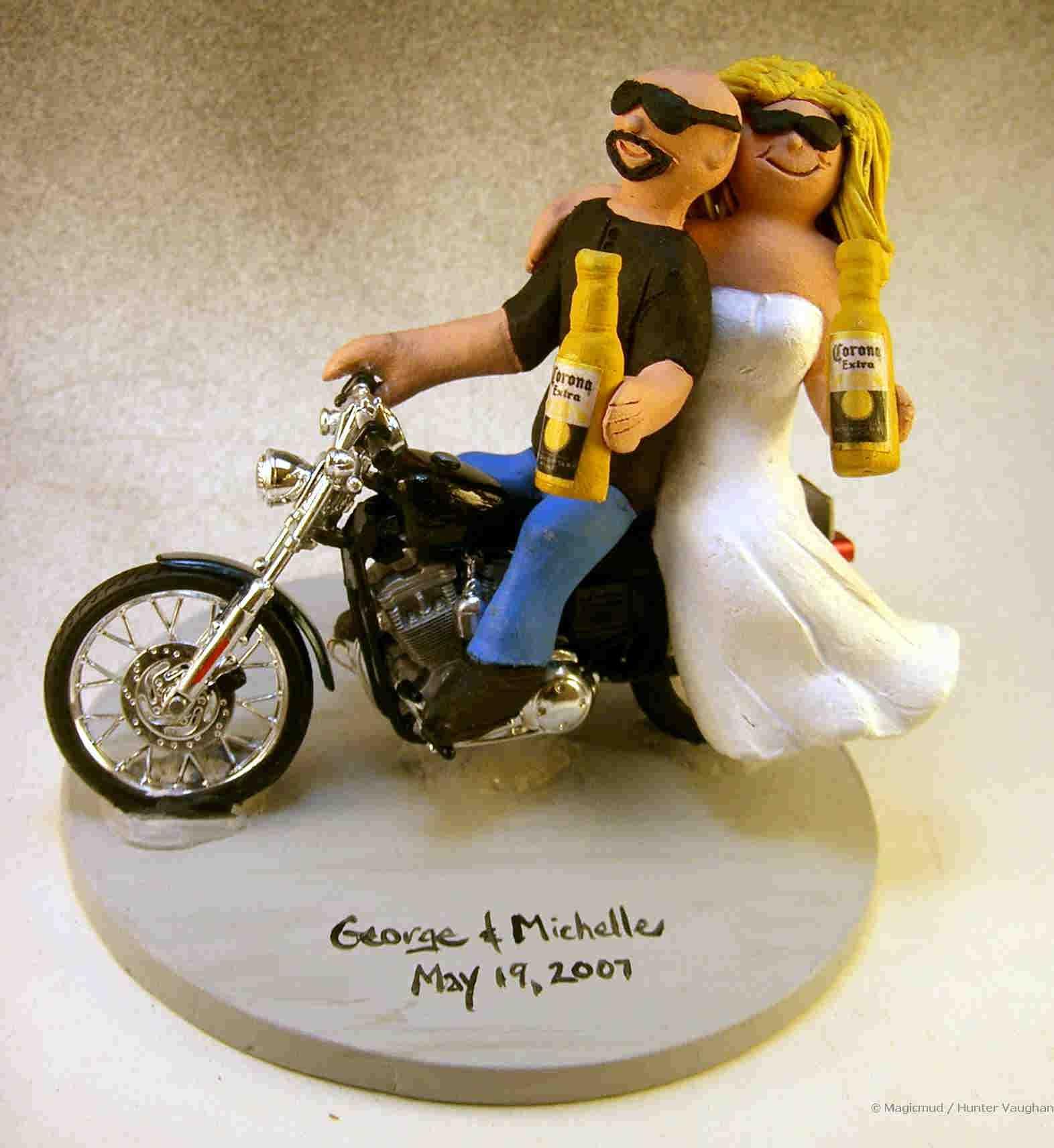 sportbike motorcycle wedding cake topper wedding cake toppers funny Motorcycle Rider S Wedding Cake Topper