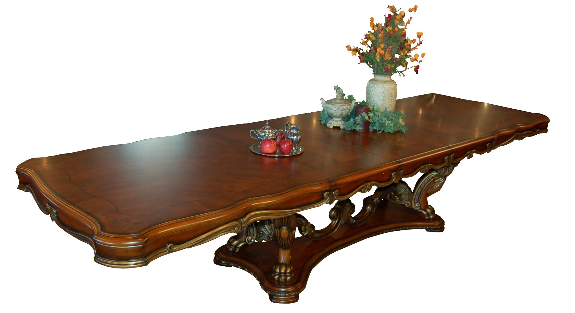 product detail large kitchen tables Ornate French Rococo Large Dining Room Table Full View 1