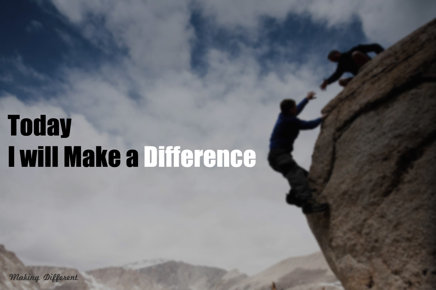 Make a difference with simple efforts Make a Difference