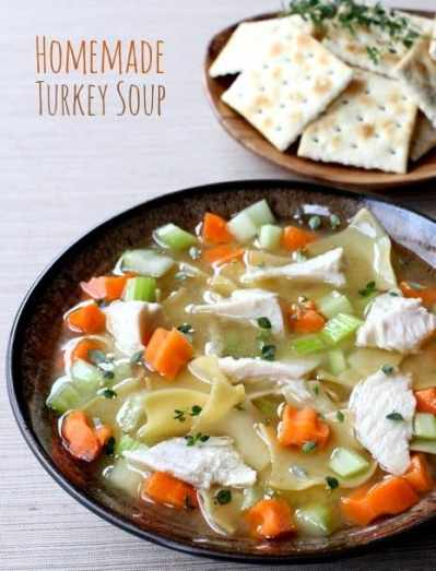 Homemade Turkey Soup | How To Use A Leftover Turkey To Make Soup