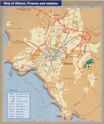 Athens Tourist Map - Athens Greece • mappery