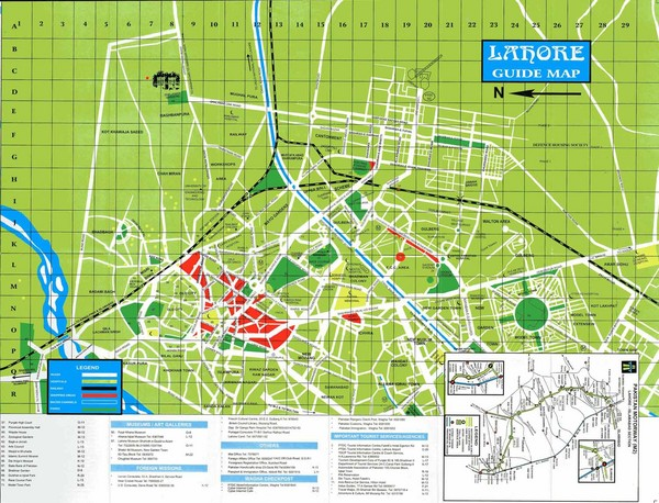 Lahore Guide Map   Lahore Pakistan     mappery Fullsize Lahore Guide Map