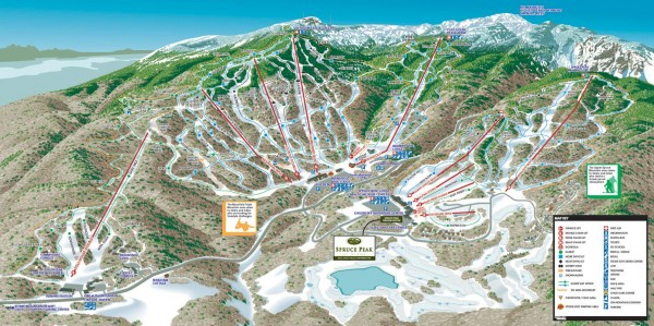Stowe ski trail map 2006 07   5781 Mountain Road stowe vt     mappery Fullsize Stowe ski trail map 2006 07