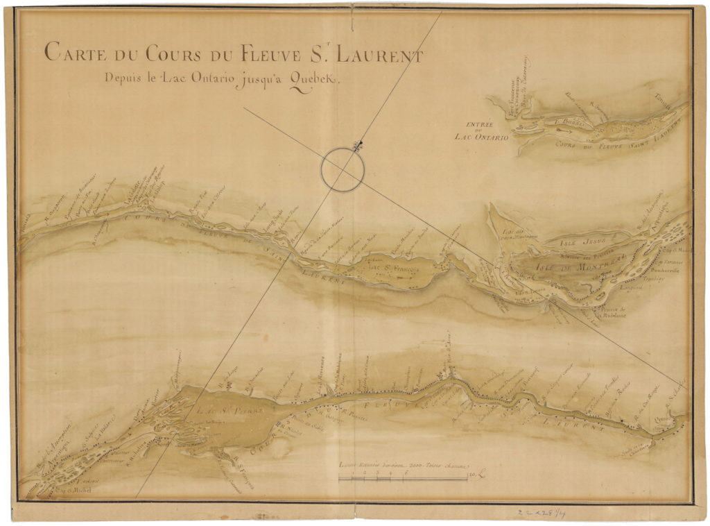 1700s     The Map Room An 18th Century Manuscript Map of the St  Lawrence River