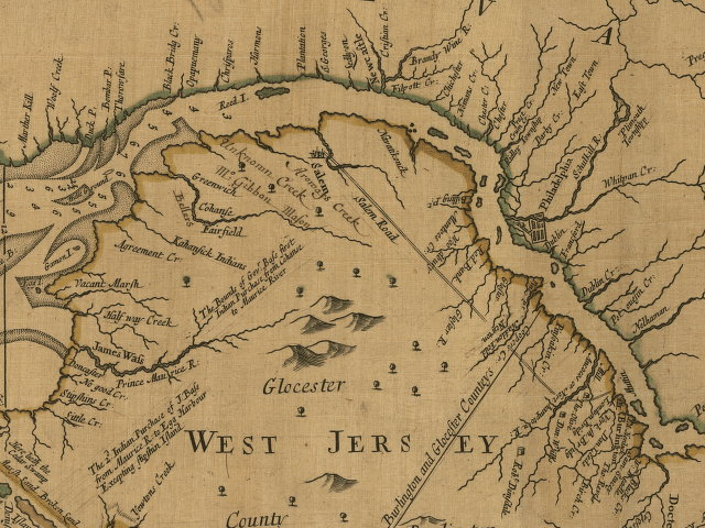 1700 s Pennsylvania Maps     closeup