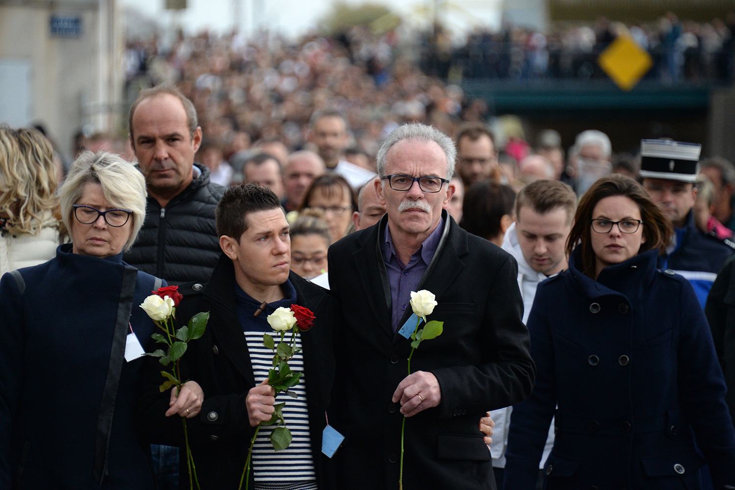 Thousands March In France In Honour Of Murdered Jogger Alexia Daval     Thousands March In France In Honour Of Murdered Jogger Alexia Daval   Marie  Claire Australia