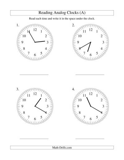 Reading Time on an Analog Clock in 5 Minute Intervals (LP)