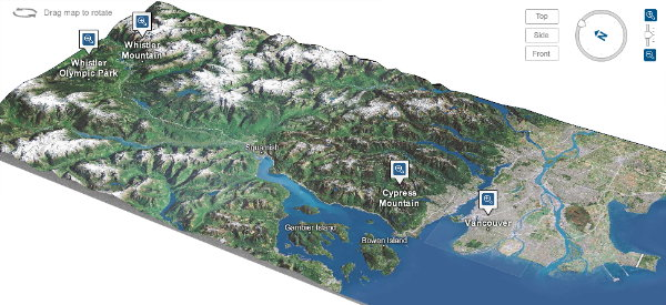 The Map Room   New York Times 3D Map of Vancouver Olympic Venues New York Times 3D Map of Vancouver Olympic Venues