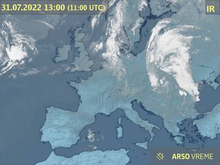 meteo si   National Meteorological Service of Slovenia   National     Satellite image of cloudiness over