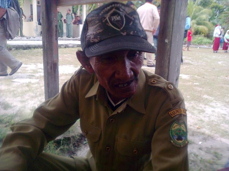 Ketua RT 01 RW 02 Desa Pekajang, Rahman. Foto Ian