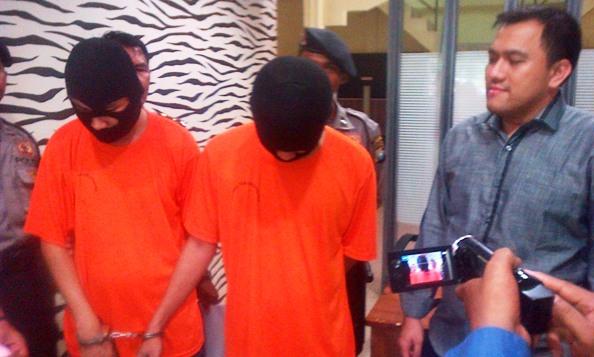 Dua Penjambret dibekuk polisi. Foto ALPIAN TANJUNG