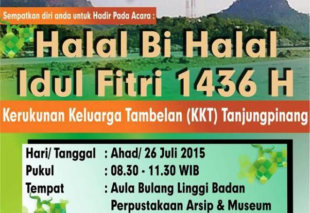 Halal bihalal warga Tambelan