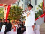 Wakil Wali Kota Tanjungpinang, Syahrul saat memberikan penghormatan