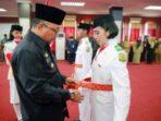 Wali Kota Tanjungpinang, Lis Darmasyah saat pengukuhan Paskibraka