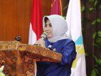 Wakil Walikota Tanjungpinang, Rahma Saat Menympaikan KJata Sambutannya Diacara Intervensi Keamanan Pangan Bagi UMKM