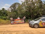 Anggota Polsek Tanjungpinang Kota laksanakan sosialisasi bahaya Karhutla di wilayah hukumnya