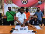 Unit Reskrim Polsek Binut saat konfrensi Pers