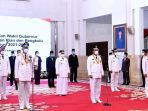 Suasana Pelantikan Gubernur dan Wakil Gubernur di Istana Negara