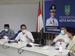 Wakil Walikota Batam, Amsakar Saat Rapat Virtual