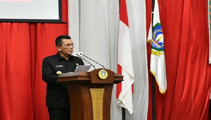Gubernur Kepri, Ansar Ahmad Saat Paripurna LPP APBD 2020