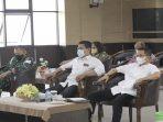 Wakil Wali Kota Batam, Amsakar Saat Rakor Melalui Zoom