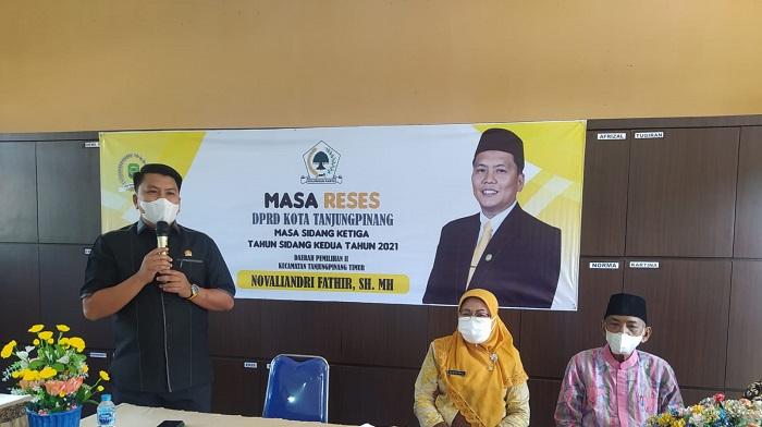 Fathir Saat Reses di SMP Negeri 7 Tanjungpinang